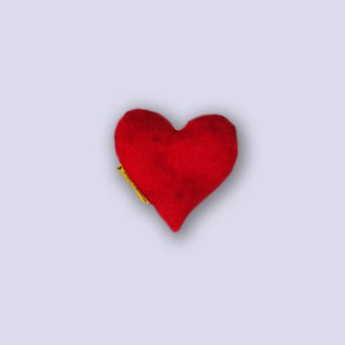 Kleines Herz Traubenkernkissen
