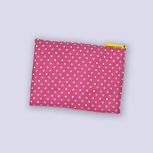 Körnerkissen pink weisse Punkte