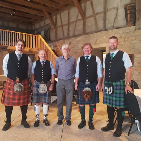 Marc, Roland, der Jubilar, Michel, Bernhard
