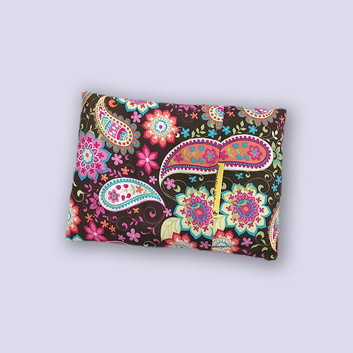 Traubenkernkissen mit lustigem Blumenmuster