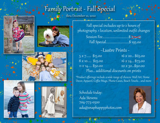 Family Portraits - Fall Special