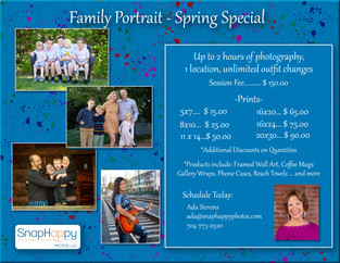 Family Portraits - Spring Special