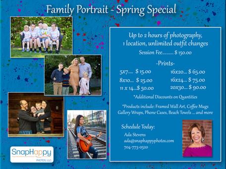 Family Portraits - Spring Special