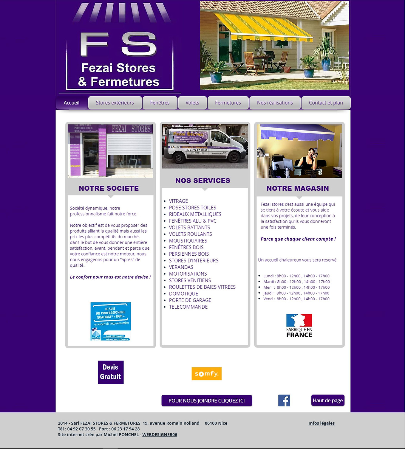 Fezai Stores & Fermetures by webdesigner06