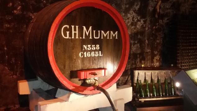 Dans les caves de G.H.Mumm