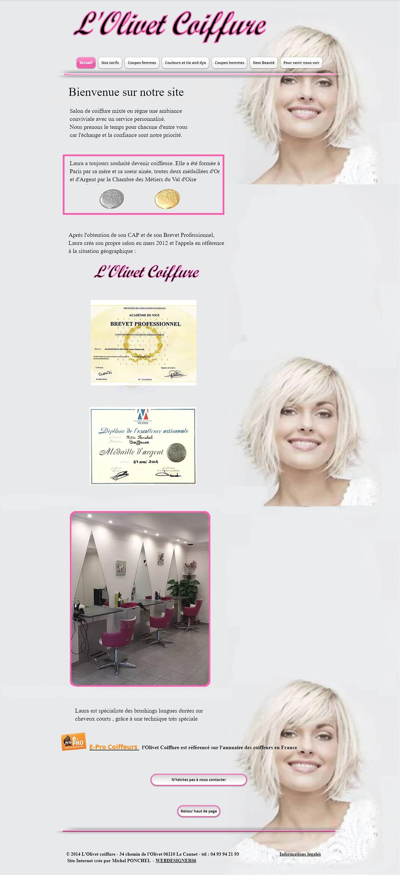L'Olivet Coiffure by webdesigner06