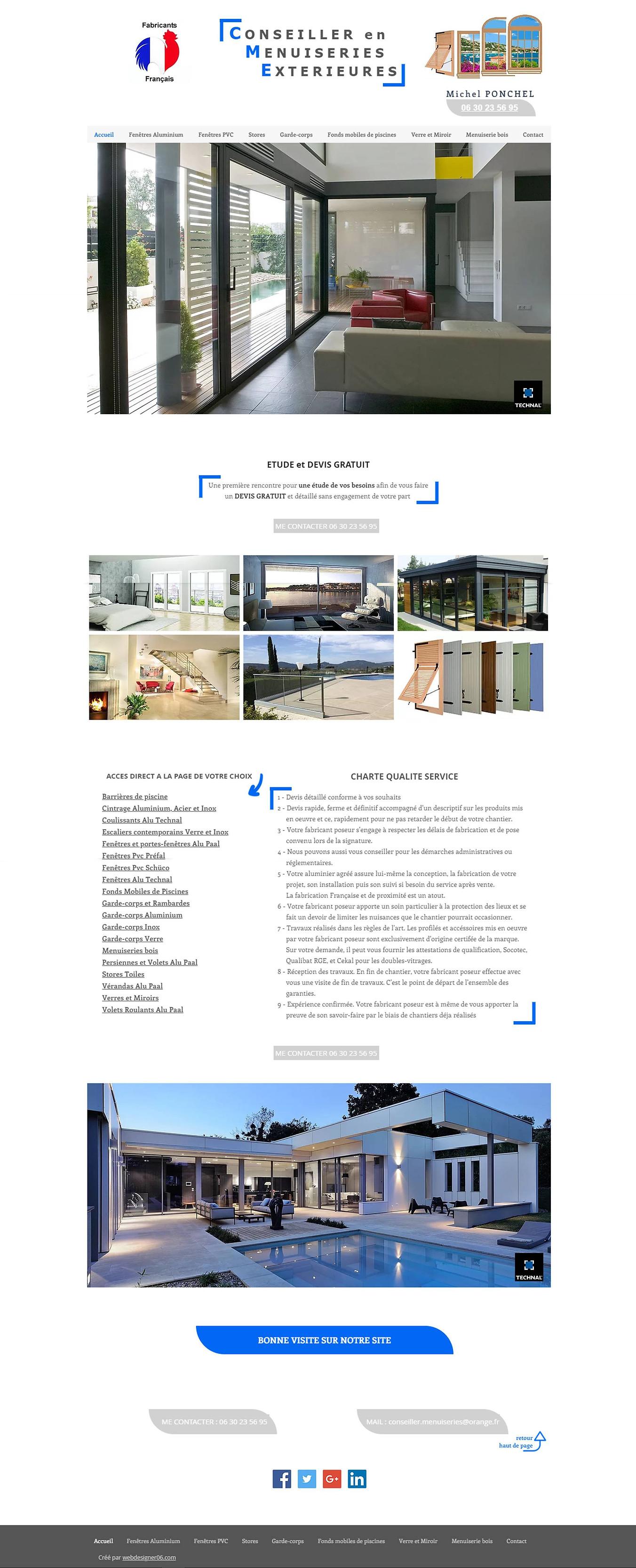 Conseiller en menuiserie extérieures bye webdesigner06