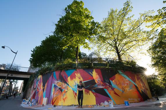 Le Mur 12 Pic by Jeremy Marais - Asso Cicero - 2017