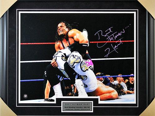 Bret Hart Signed 16x20 Sharpshooter Frame