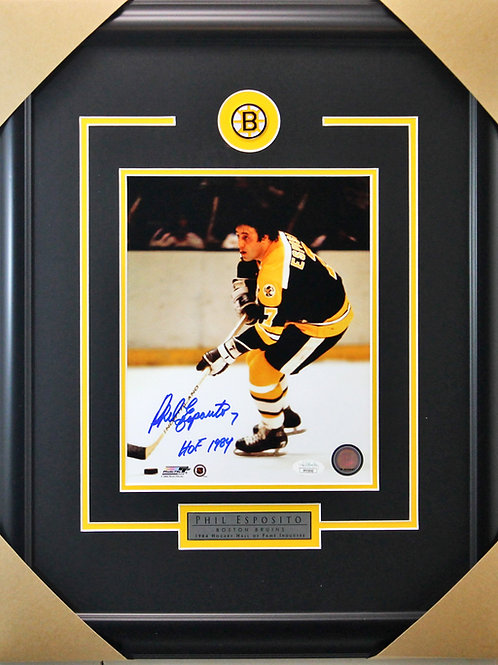 Phil Esposito Signed 8x10 Action Frame