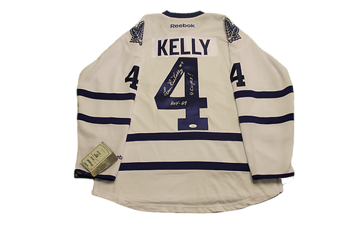 Red Kelly Signed Away Jersey