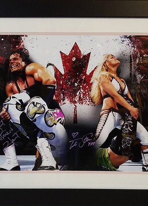 Bret Hart/Trish Stratus dual Signed 16x20 Frame