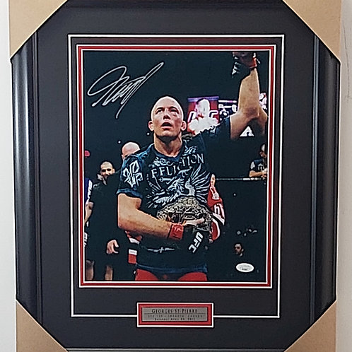 Georges St-Pierre Signed 11x14 Frame