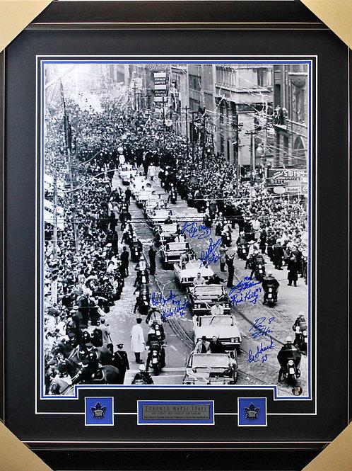 Toronto Maple Leafs 1967 Parade signed 16x20 frame