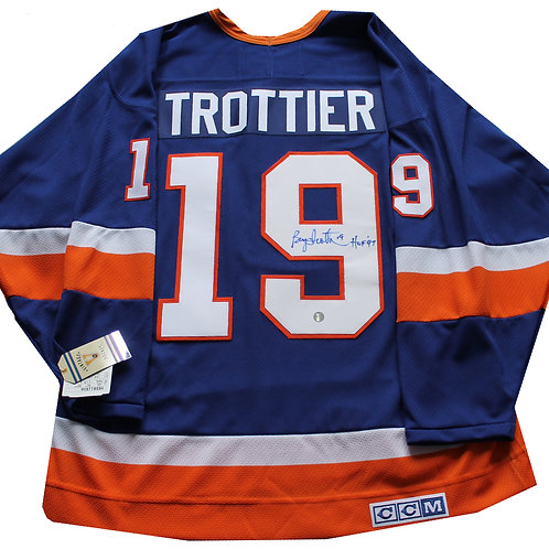 Bryan Trottier Signed Home Jersey