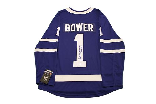 Johnny Bower Signed Home Jersey