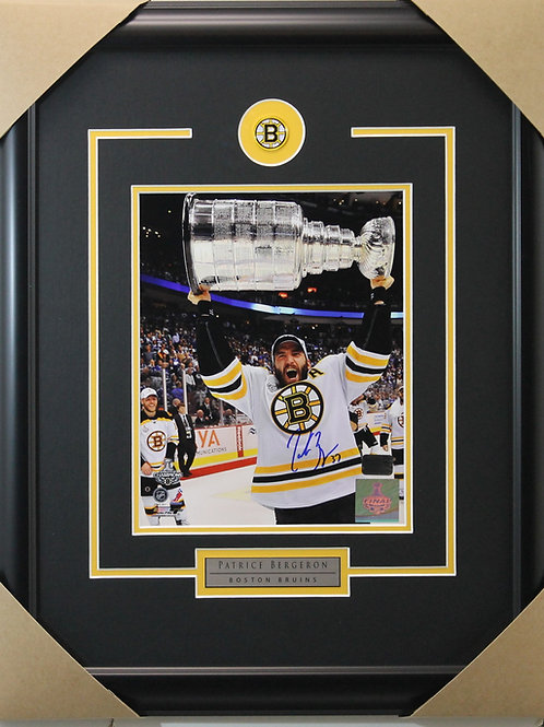 Patrice Bergeron Signed 8x10 Cup Frame