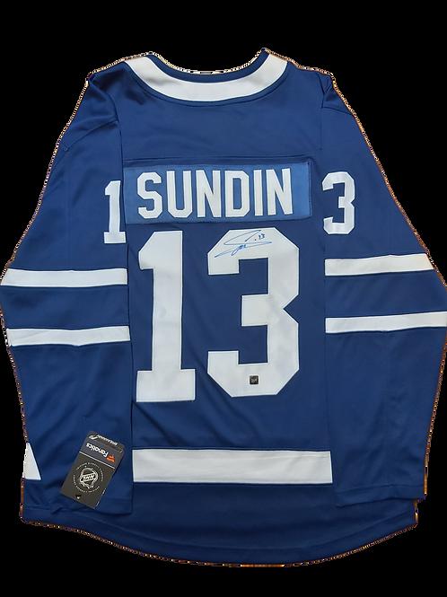 Mats Sundin Signed Home Jersey