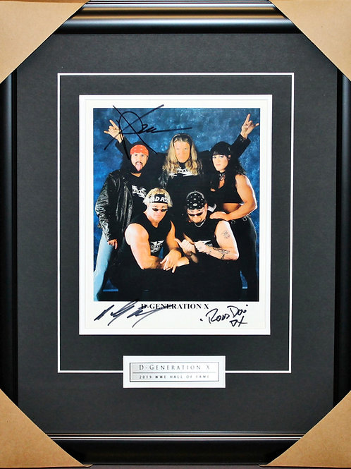 DX Signed 8x10 Frame