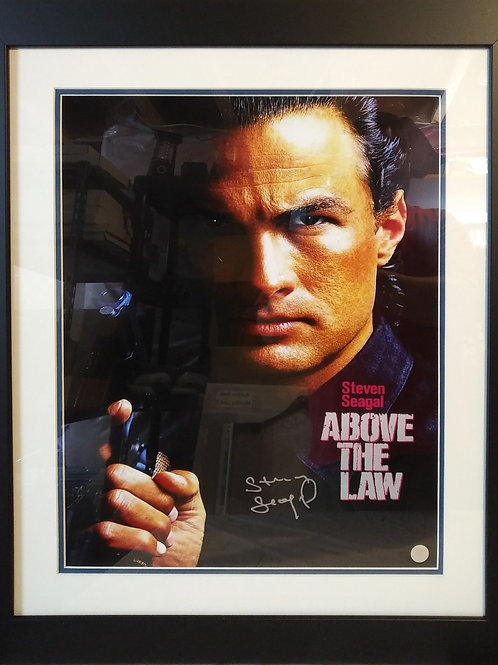 Steven Seagal Signed 16x20 Above The Law Frame
