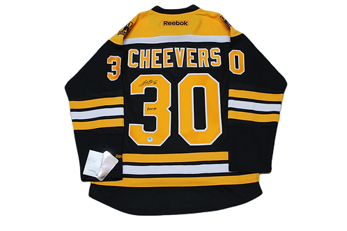 Gerry Cheevers Signed Home Jersey