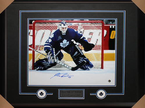 Felix Potvin Signed 16x20 Action Frame