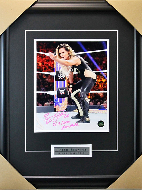 Trish Stratus Signed 8x10 Final Frame