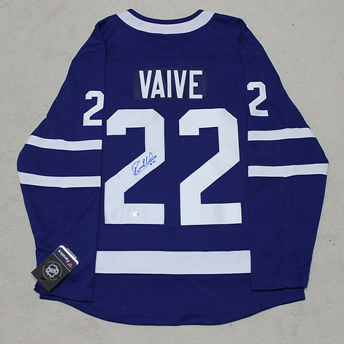 Rick Vaive Signed Home Jersey
