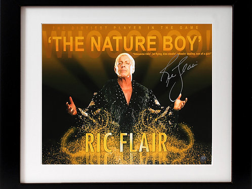 Ric Flair Signed 16x20 Nature Boy Frame