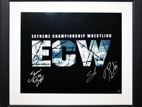 Sabu/Douglas/Rhino Signed 16x20 ECW Frame