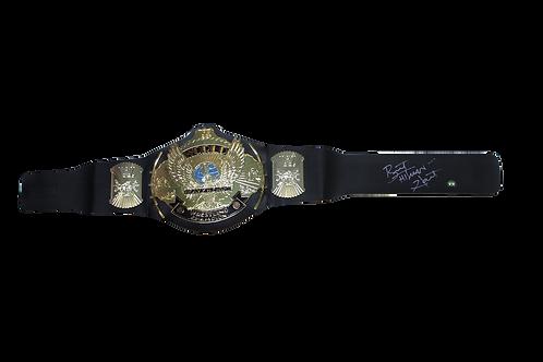 Bret Hart Signed Championship Belt