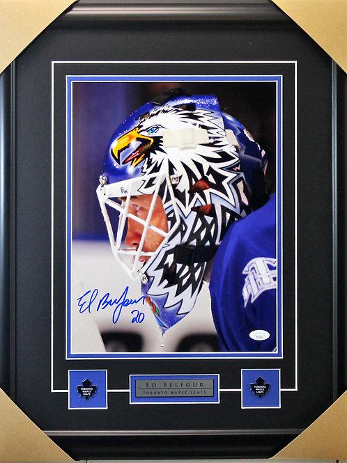Ed Belfour Signed 11x14 Mask Frame