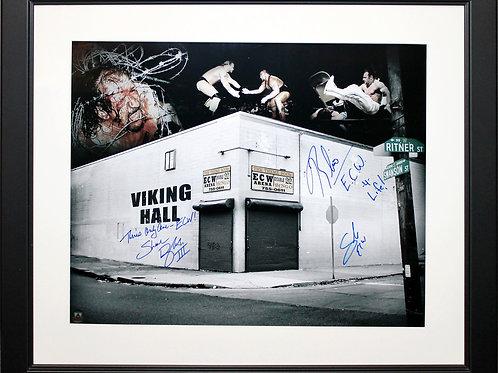 Sabu/Douglas/Rhino Signed 16x20 ECW Arena Frame