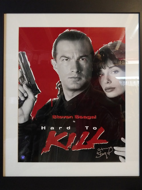 Steven Seagal Signed 16x20 Hard To Kill Frame