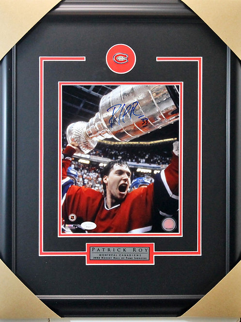 Patrick Roy Signed 8x10 Red Cup Frame