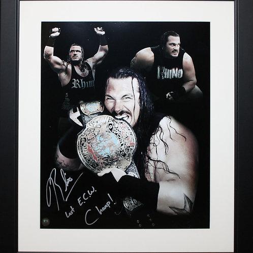 Rhino Signed 16x20 ECW Frame