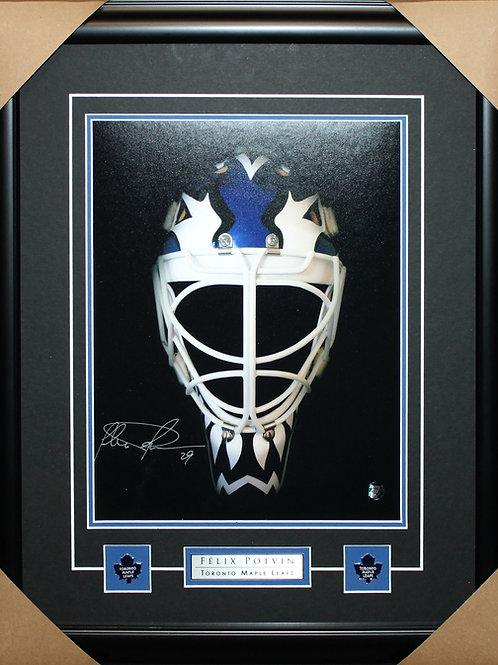 Felix Potvin Signed 11x14 Mask Frame