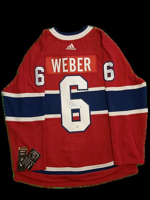Shea Weber Signed Home Jersey