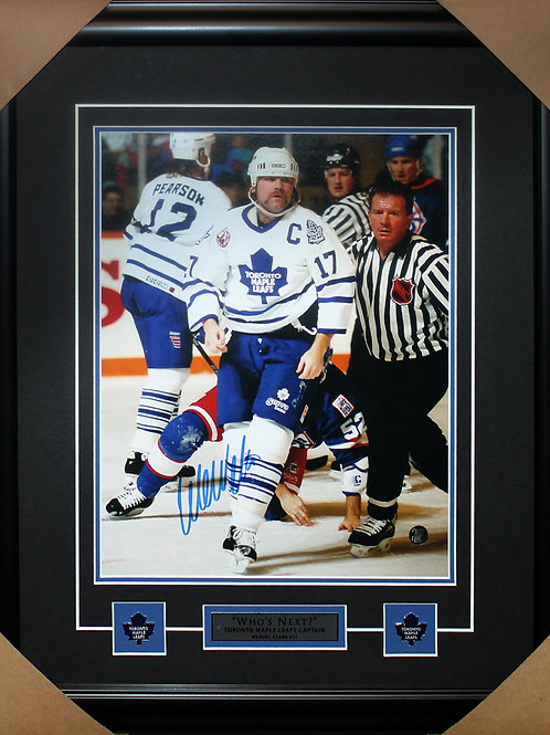 Wendel Clark Signed 11x14 Fight Frame