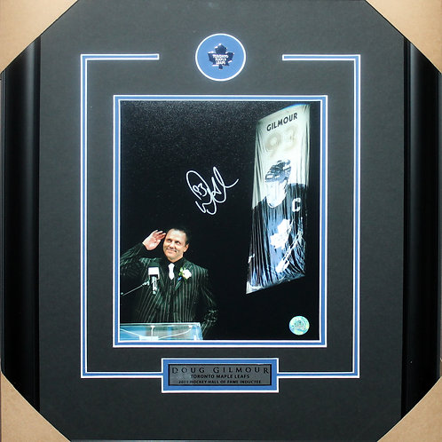Doug Gilmour Signed 8x10 Banner Frame