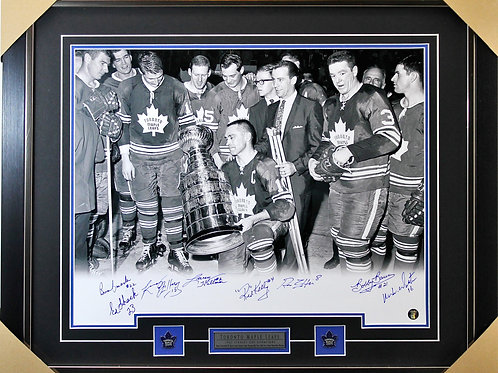 Toronto Maple Leafs 1967 Stanley Cup Team signed 16x20 frame