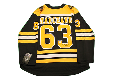 Brad Marchand Signed Home Jersey