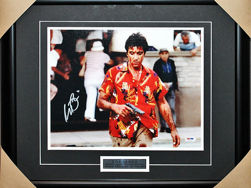 Al Pacino Signed 11x14 Scarface Blood Frame