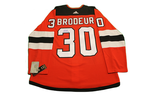 Martin Brodeur Signed Home Jersey