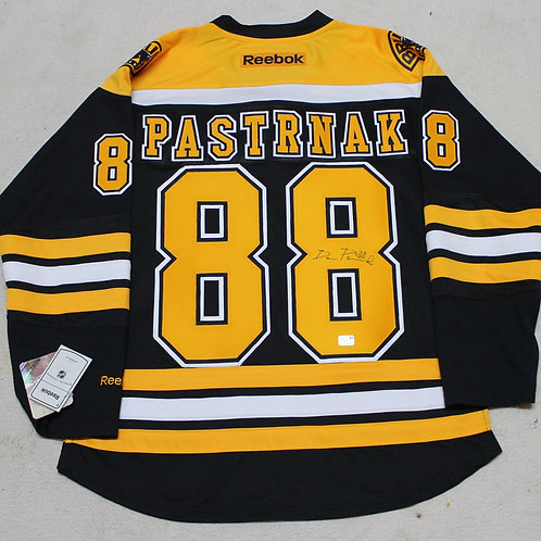 David Pastrnak Signed Home Jersey