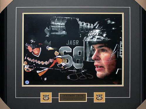 Jaromir Jagr Signed 16x20 Collage Frame