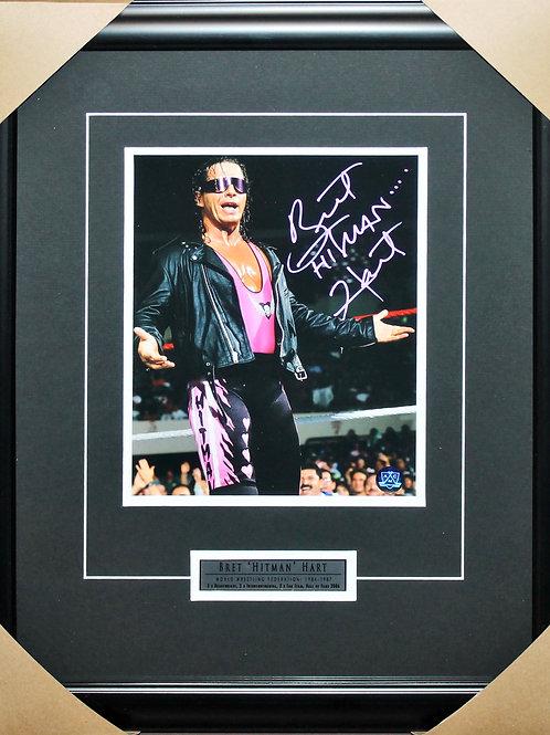 Bret Hart Signed 8x10 Pose Frame