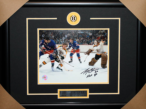 Gerry Cheevers Signed 8x10 Action Frame