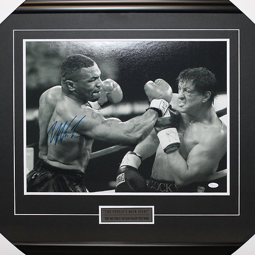Mike Tyson Signed 16x20 Rocky Frame
