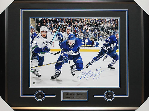 Morgan Rielly Signed 16x20 Stride Frame
